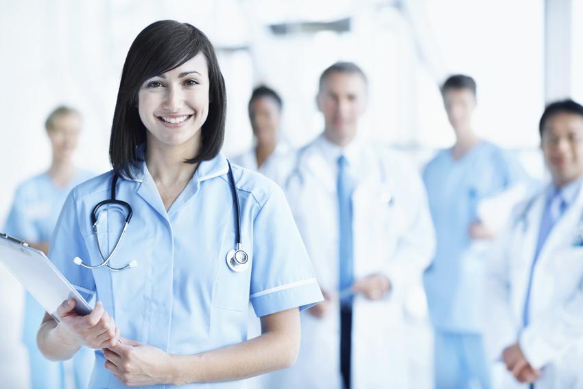 Klinikmitarbeiterin